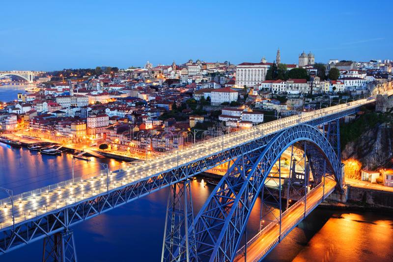 evening-porto-old-city-douro-river-dom-luis-bridge-ponte-de-i-scene-mosteiro-da-serra-do-pilar-portugal-49988813
